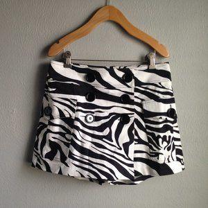 Cache Zebra Print Skort Sz 4 EUC